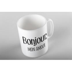 "Tasse ""Bonjour, mon amour"""